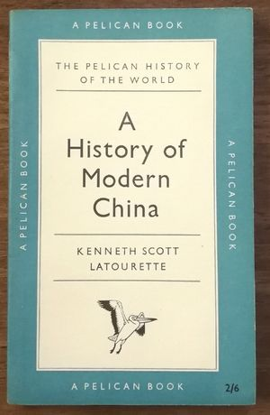 a history of modern china, kenneth scott, pelican book