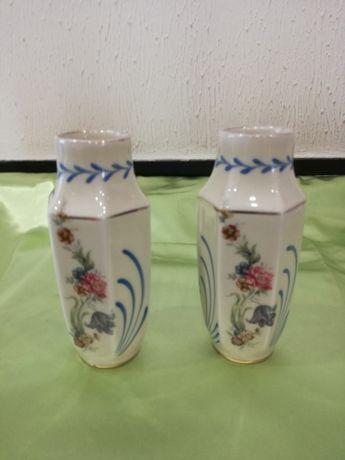 2 Jarras de Porcelana Limoges pintadas à mão
