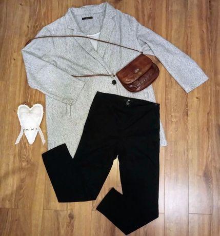 Cygaretki H&M 36 czarne elastan wyższy stan