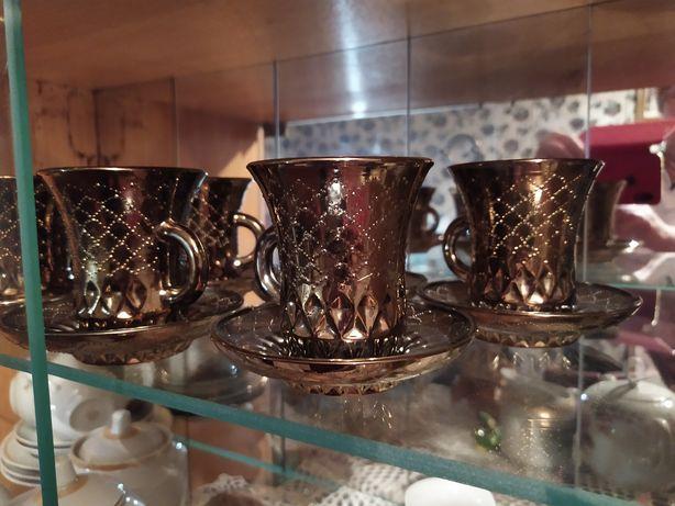 Кофейный набор, 6 чашек и блюдец