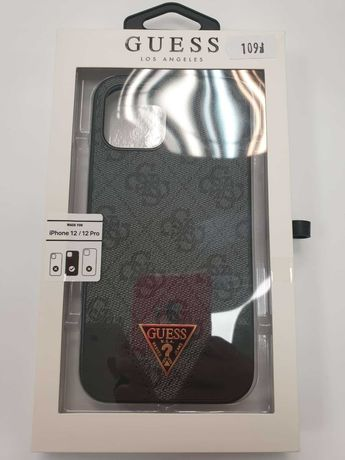 Etui GUESS iPhone 12 / 12 Pro GUHCP12MPU4GHBK