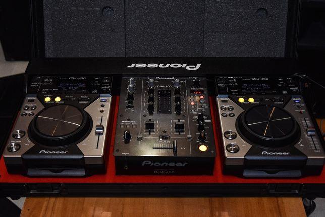 Konsola Pioneer 2x CDJ 400 + DJM400 + Case
