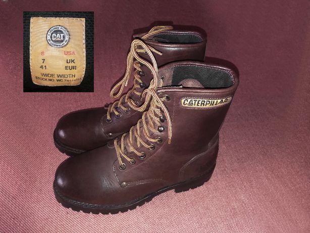 Caterpillar – кожаные ботинки унисекс, размер 41 (стелька 26,7 см)