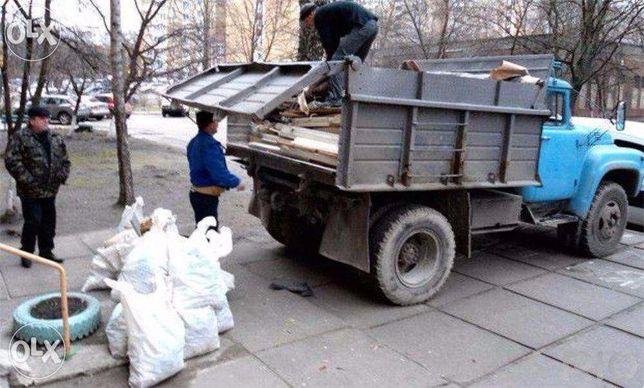 Вывоз мусора, старой мебели и прочего хлама, грузчики сыпучие доставк