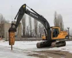аренда услуги гидромолота 2 тонны на базе 27 тонны экскаватор