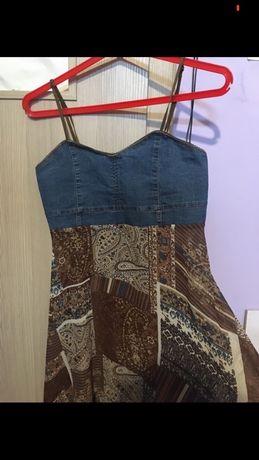 Dżinsowa sukienka zwiewny dol