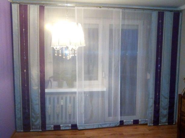 Dekoracja okna firany 3 ekrany