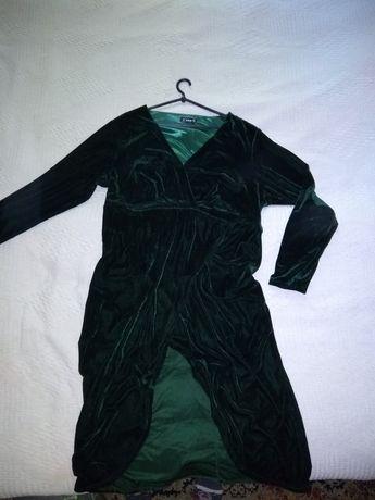 Изумрудное платье Shein