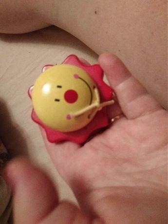 игрушка деревянная солнце солнышко стучалка КАСТАНЬЕ́ТЫ красные фирма