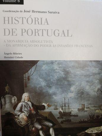 14 livros da coleção história de Portugal