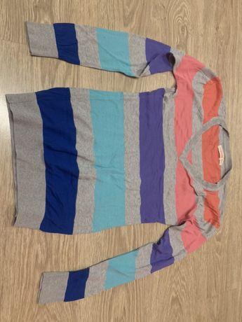 Cienki sweter paski kolorowy