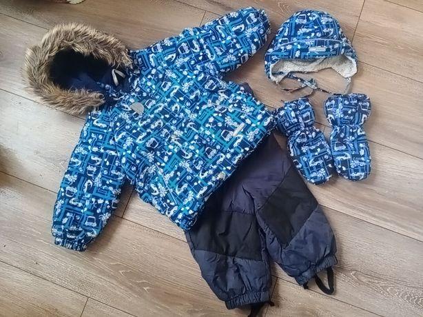 Зимний комбинезон Lenne ,Ленне комплект+ шапка+краги Размер 74+6