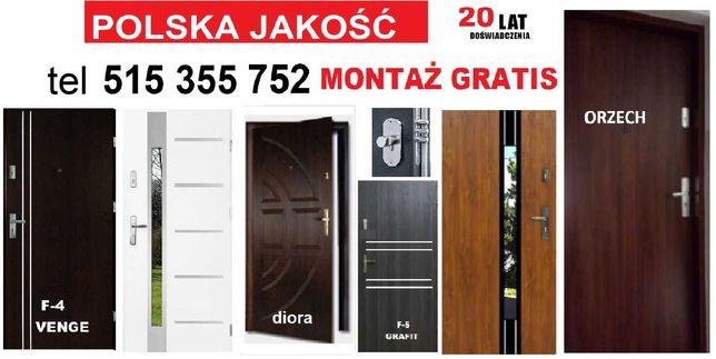 Drzwi wejściowe z montażem zewnętrzne-WEWNĄTRZKLATKOWE