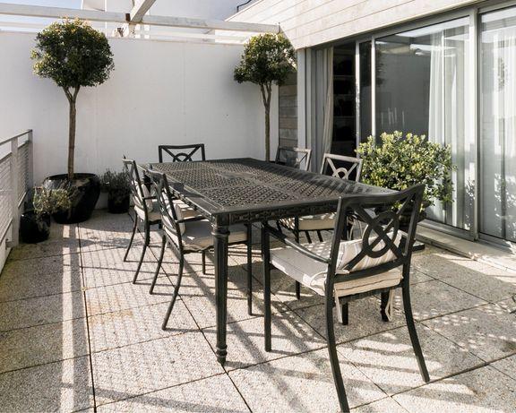 Móveis Exterior - Set Premium de Mesa com 6 Cadeiras