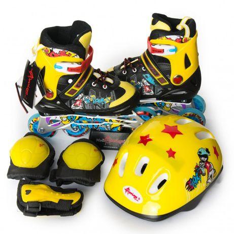 Роликовые коньки набор ROONEY COMBO Amigo sport детские ролики