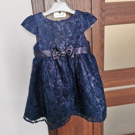 Sukienka r. 86 dla dziewczynki granatowa