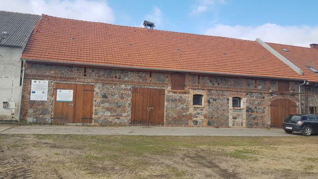 Budynek gospodarczy z częścią mieszkalną, duża działka , ziemia rolna