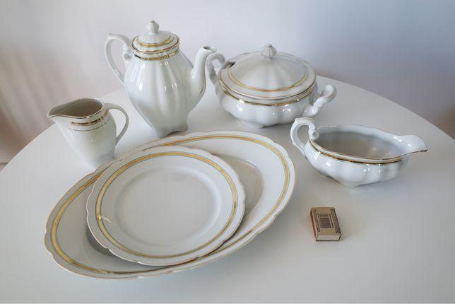 Komplet porcelany Ćmielów, porcelana, ceramika