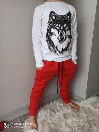 Dres w części bluza koszulka spodnie wilk 92-140