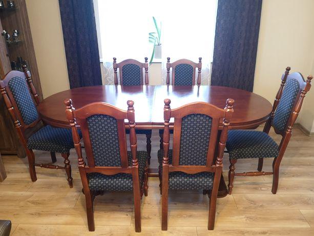 Zestaw stół i 6 krzeseł