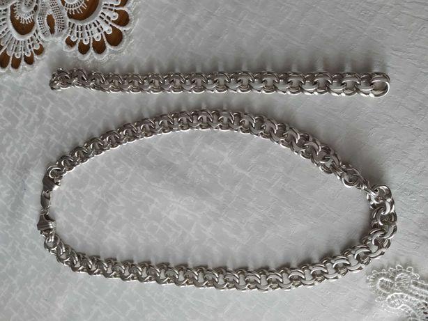 Łańcuszek srebrny 925 +bransoletka