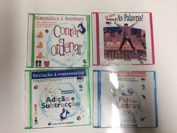 4 cd's didáticos para aprendizagem com jogos