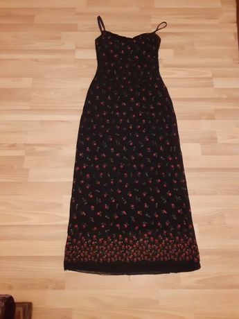 Śliczna sukienka w różyczki