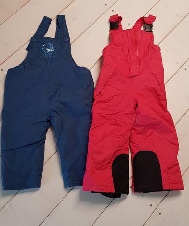 Zimowe spodnie narciarskie Lupilu 86/92 +GRATIS druga para spodni