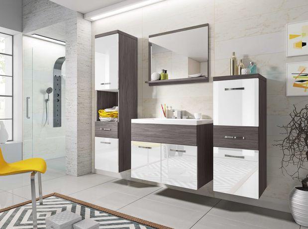 Meble łazienkowe Alba : szafka pod umywalkę , słupek niski i wysoki
