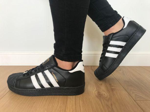 Adidas Superstar. Rozmiar 37. Czarne - Białe paski. Super cena!