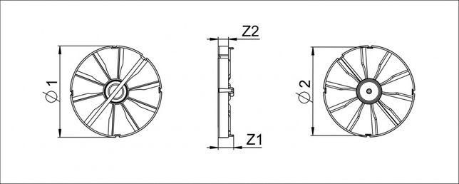 Zawór zwrotny, klapka do wentylatora ZZ150 fi150