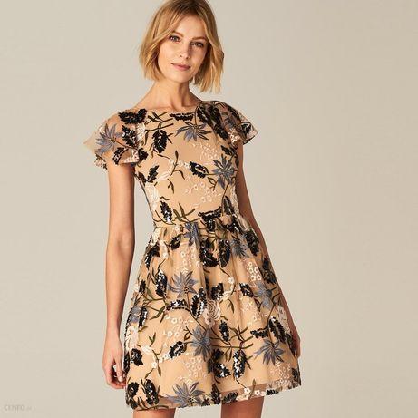 Mohito - Sukienka z wycięciem na plecach. Beżowy. r. XS