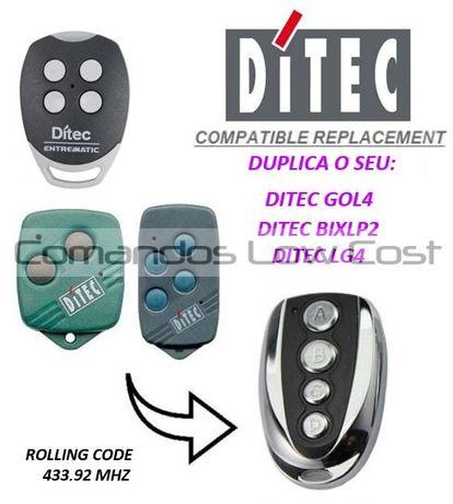 Comando de garagem compatível c/ DITEC