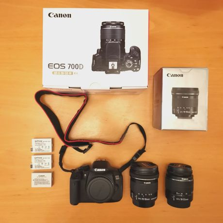 Canon 700D + Grande Angular + 10-55mm