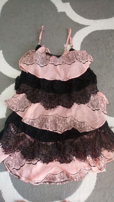 Sukienka S M koronka bdb