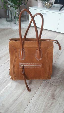 Włoska torebka skórzana - nowa