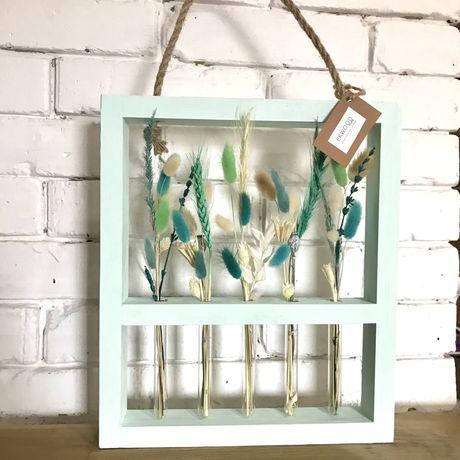 Рамка ваза с цветами,оригинальный подарок,сухоцветы,декор интерьера