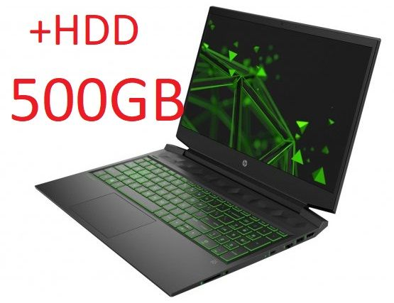 Laptop HP Gaming 15 I5-10gen 144Hz 16GB/512GB SSD+ HDD GTX 1650Ti NOWY