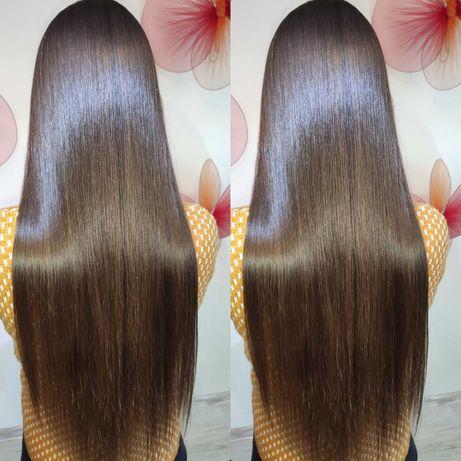 Кератиновое выпрямление выравнивание ботокс волос нанопластика кератин