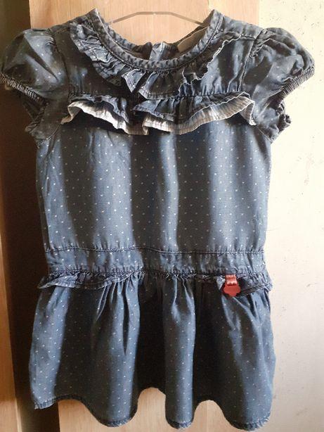 Sukienka jeansowa rozm. 74 Coccodrillo