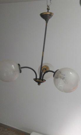 Candeeiro de teto 3 globos (como novo)