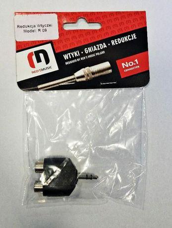 RED'S MUSIC R09 - Redukcja wtyku 2RCA/jack 3,5mm ST