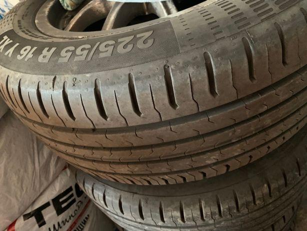 Продам комплект летних шин с дисками 225/55 R16 Y XL