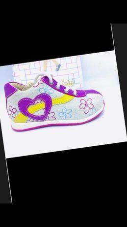 Итальянские ортопедические кроссовки туфли летние розовые,кожаные,20 р
