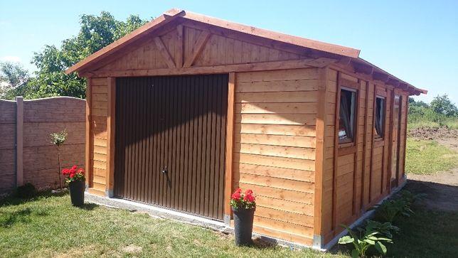garaż drewniany 4m x 6m