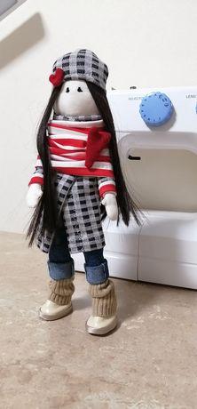 Кукла текстильная с ткани ручная работа