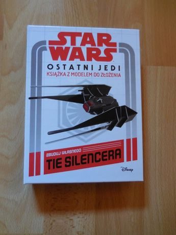 Ostatni Jedi - książka z modelem TIE Silencera do złożenia