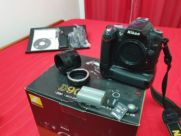 Nikon D90 24.000 clicks SLR DSLR máquina fotográfica câmara video