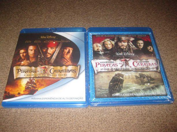 """2 Blu-Ray da Saga """"Piratas das Caraíbas"""" Selados!"""