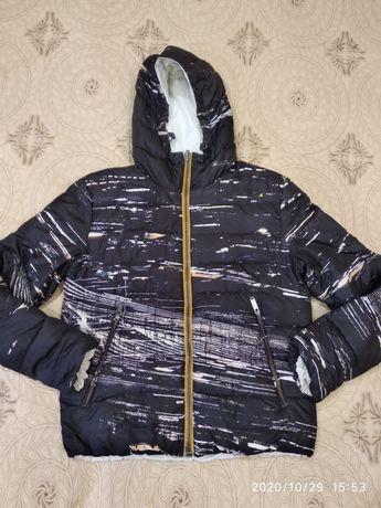 Куртка пуховик двосторонній